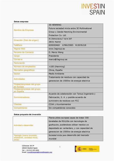 Certificado Invest in Spain