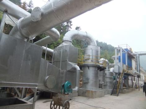 Tratamiento de residuos y gases - Planta 3E Henming en China