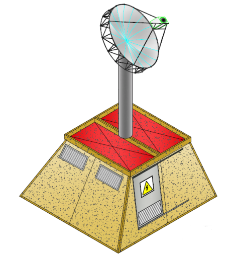 Antena Solar Fotovoltaica - Perspectiva Torre Fotovoltaica - GAiA New Technologies