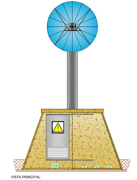 Planta Torre Fotovoltaica - Vista Principal - GAiA New Technologies